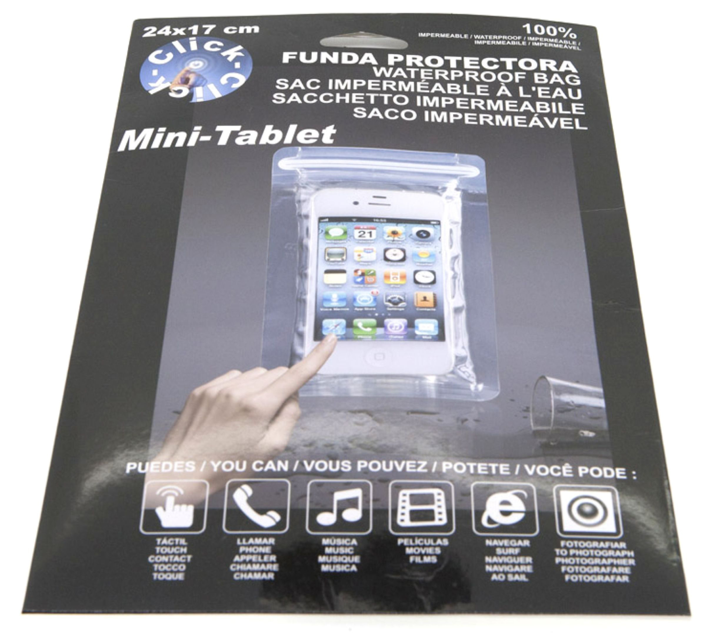 FUNDA PROTECTORA MINI-TABLET 24X17CM.