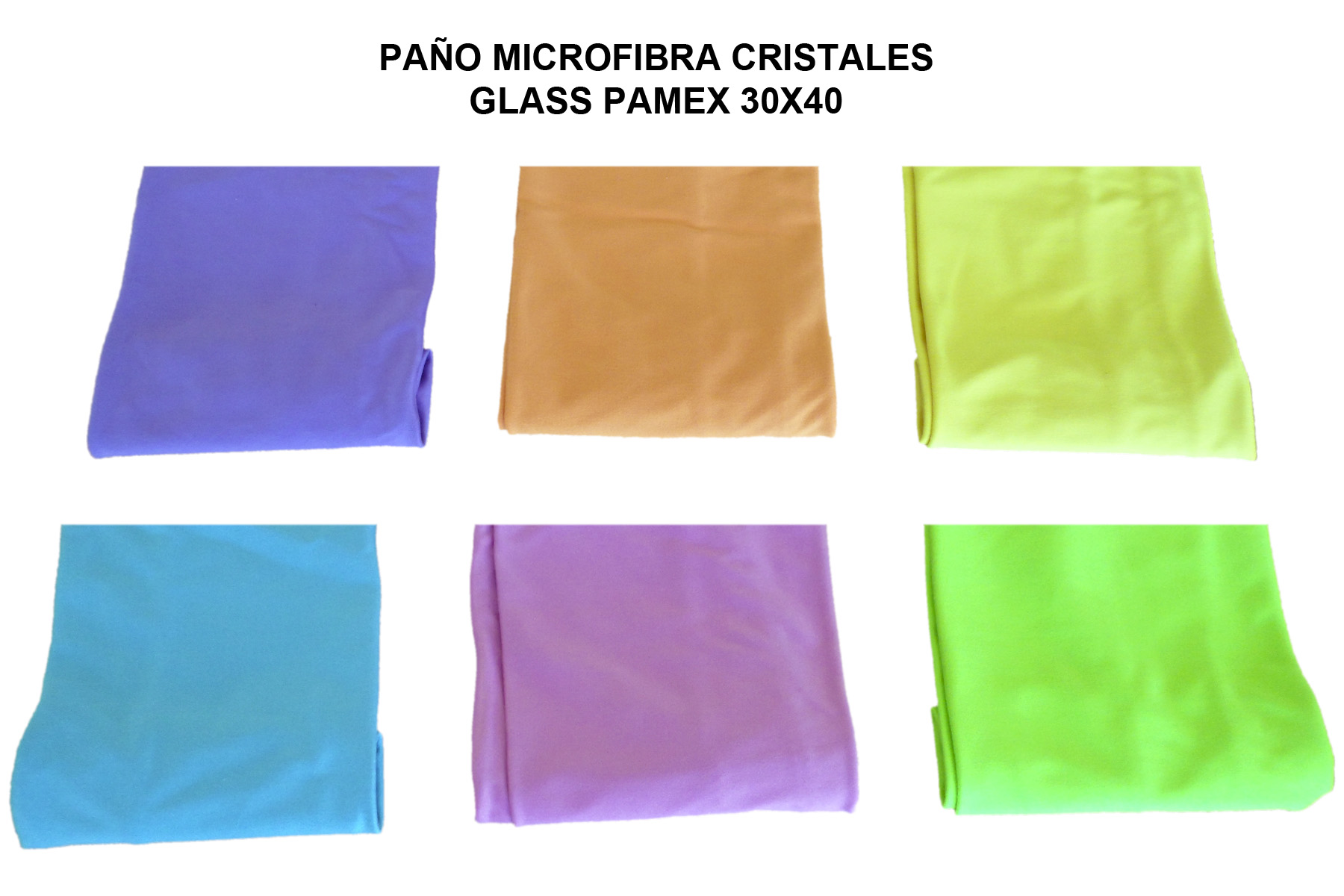 PAÑO MICROFIBRA CRISTALES GLASS PAMEX