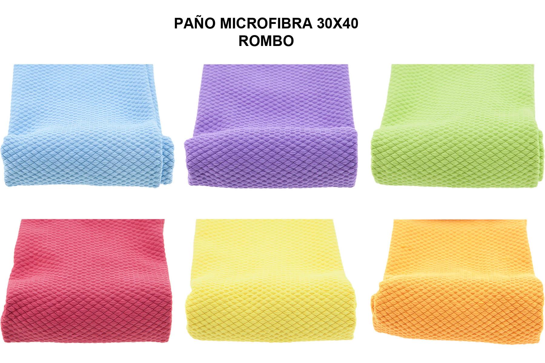 PAÑO MICROFIBRA 30X40 ROMBO