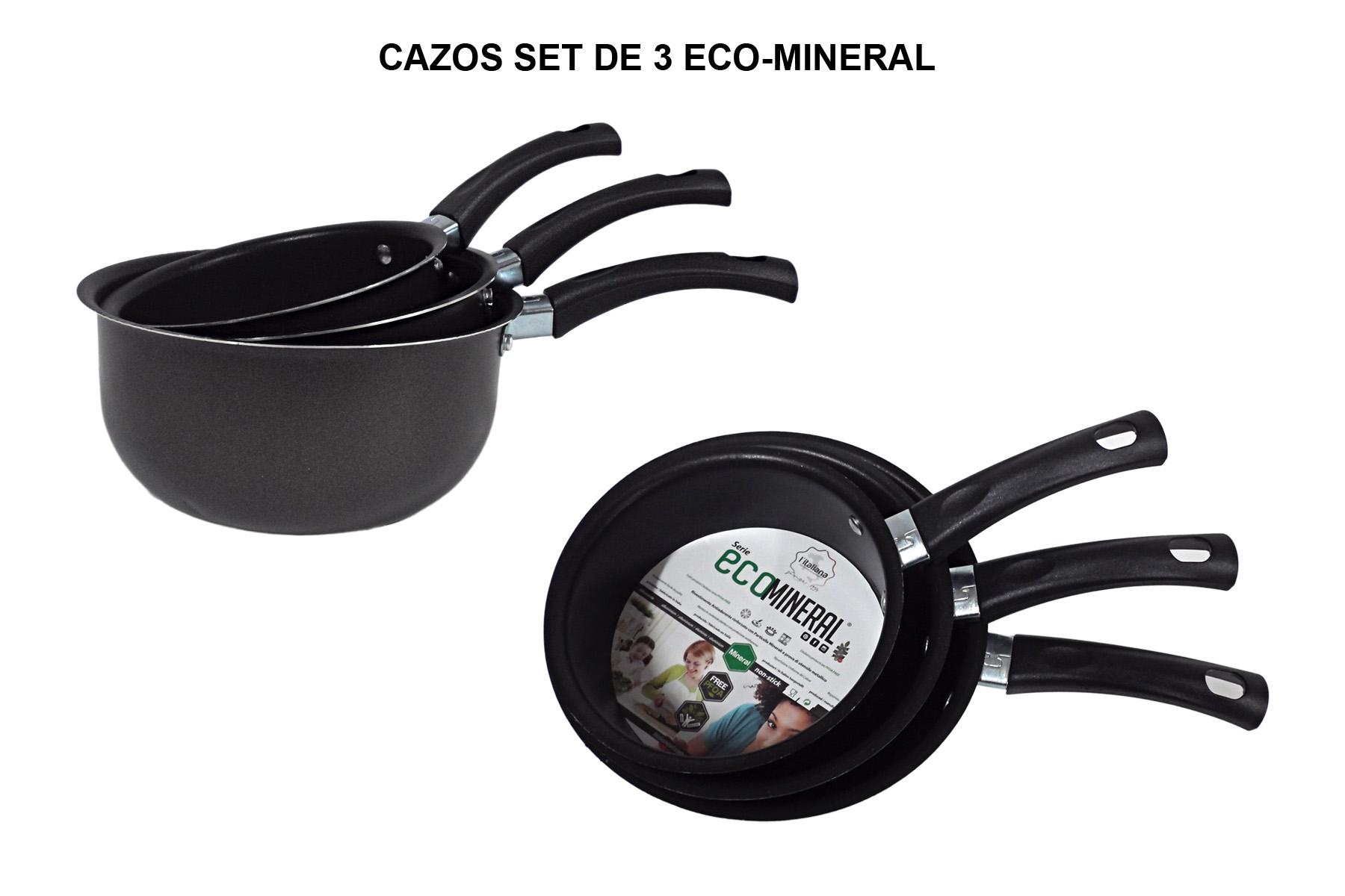 CAZOS SET DE 3 ECO-MINERAL