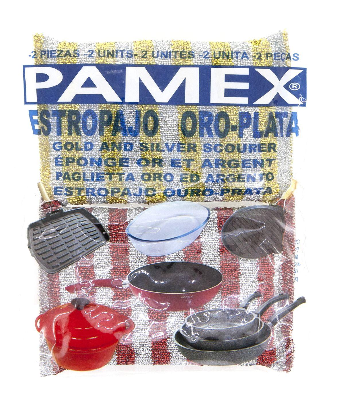 ESTROPAJO ORO-PLATA 2 PZAS. PAMEX