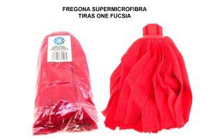 FREGONA SUPERMICROFIBRA TIRAS ONE FUCSIA