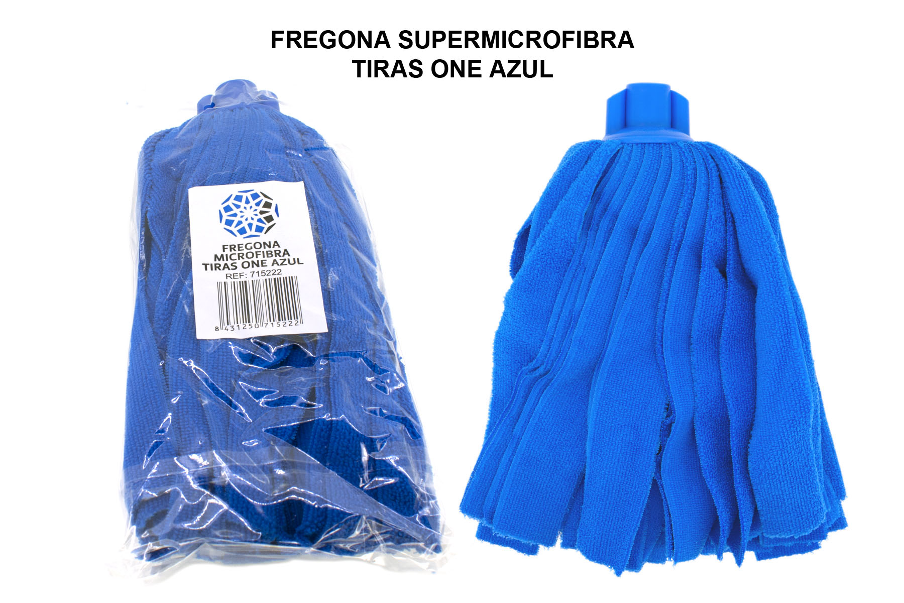 FREGONA SUPERMICROFIBRA TIRAS ONE AZUL