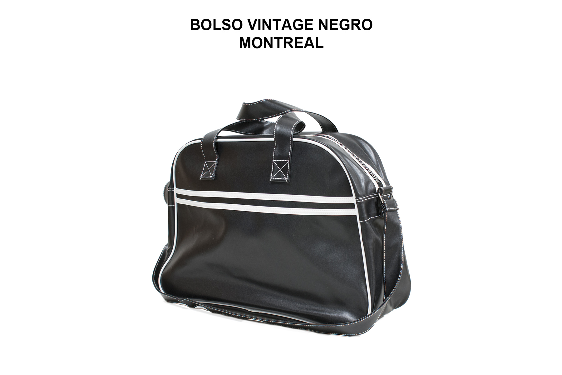 BOLSO VINTAGE NEGRO MONTREAL
