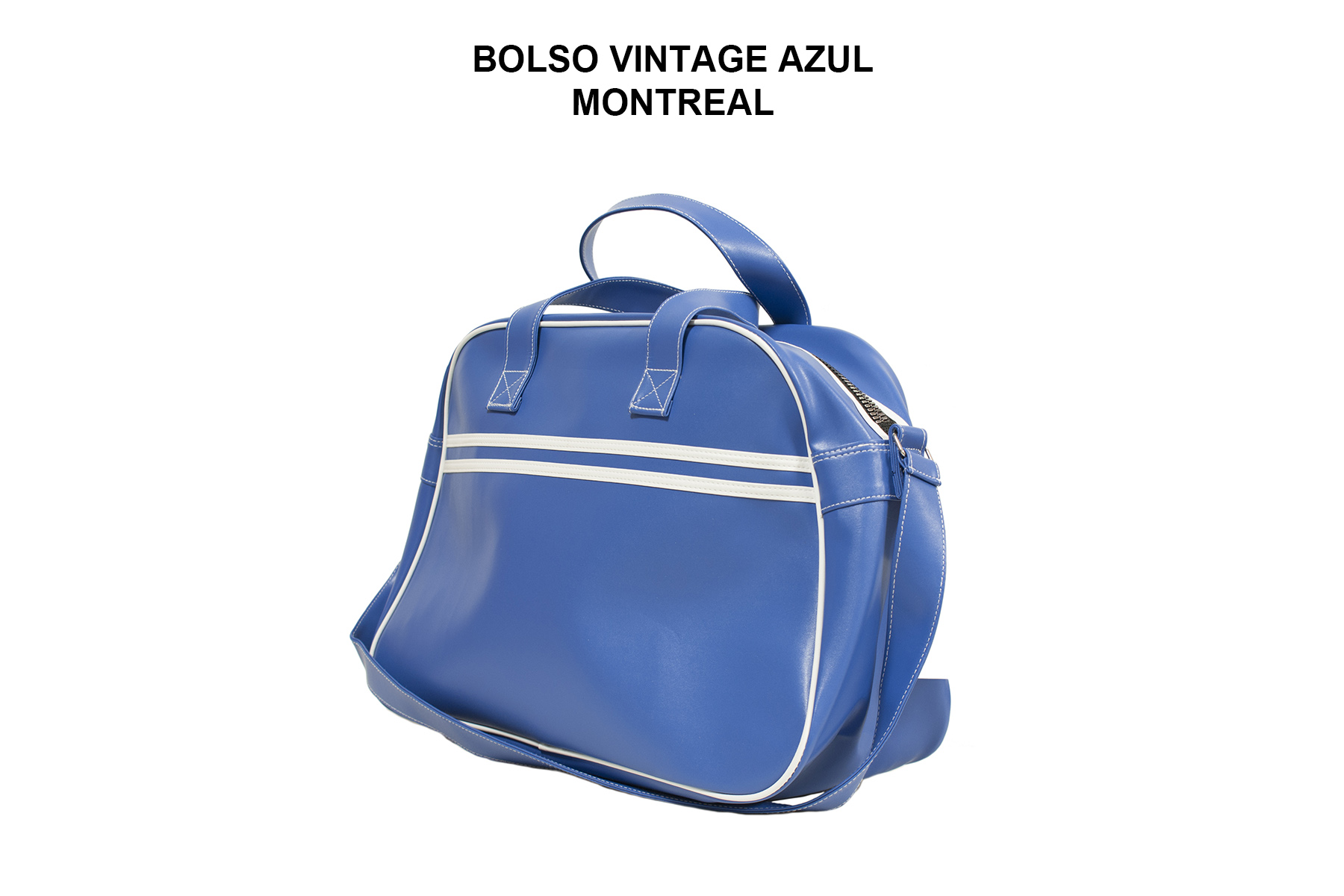 BOLSO VINTAGE AZUL MONTREAL