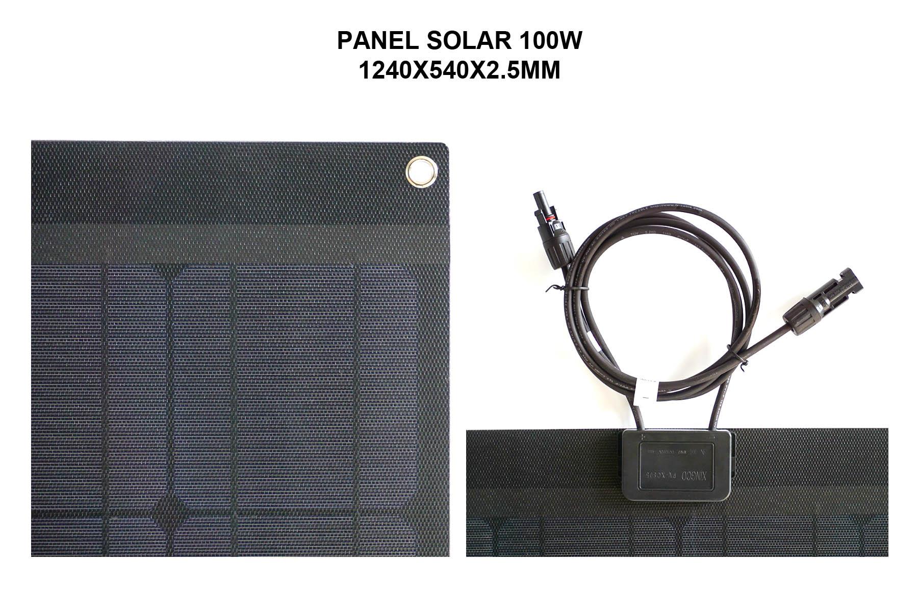 PANEL SOLAR 100W 1240X550X2.5MM