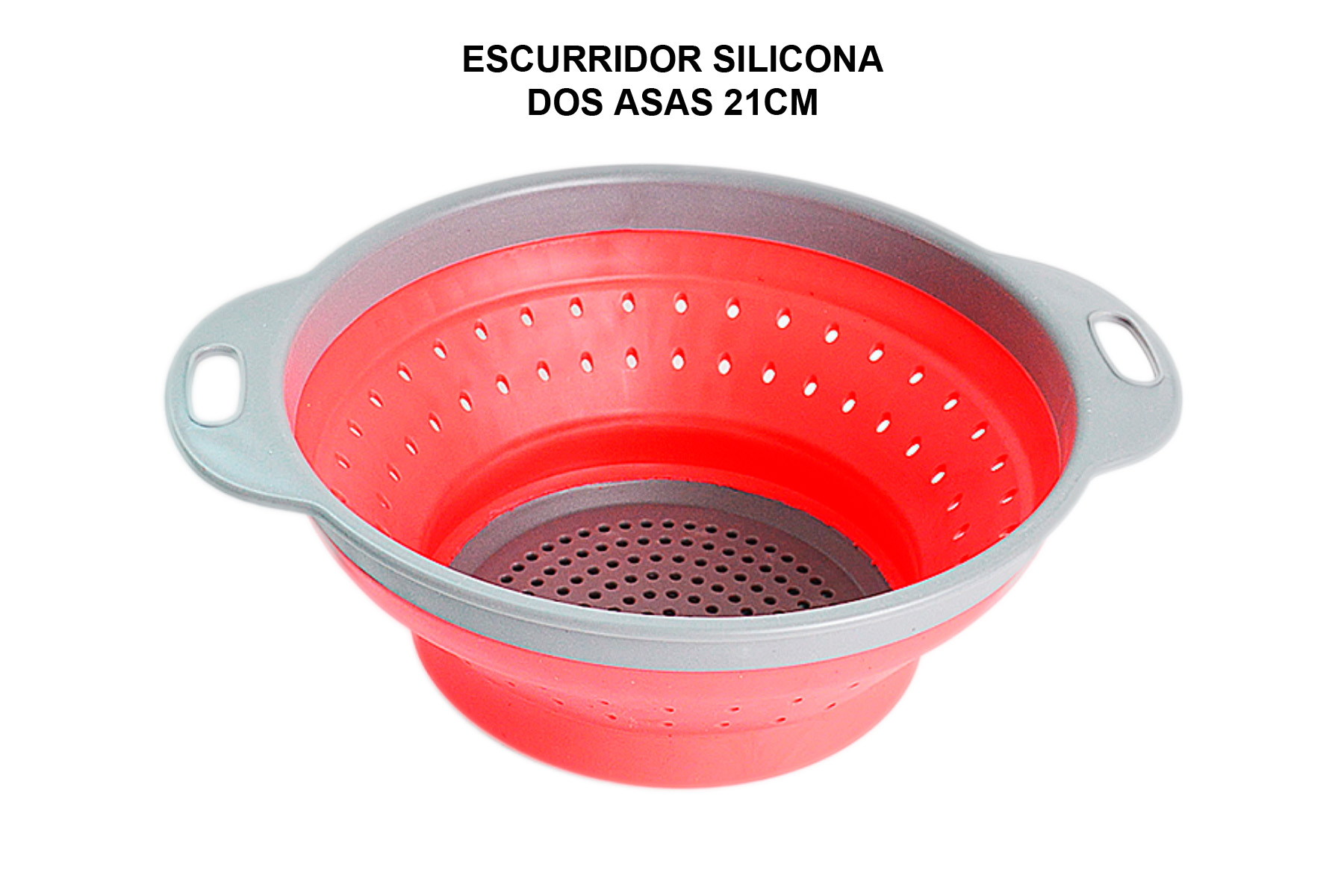 ESCURRIDOR PLEGABLE SILICONA DOS ASAS 21CM