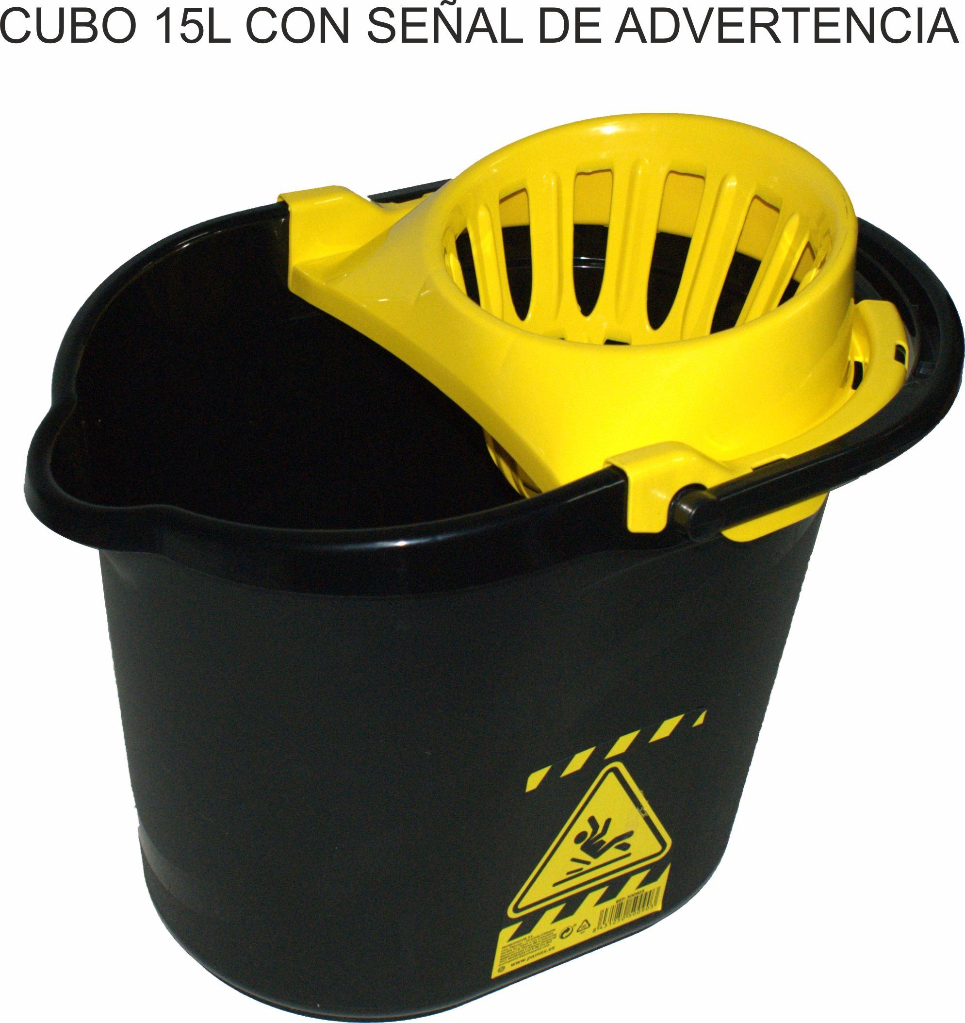 CUBO 15L CON SEÑAL DE ADVERTENCIA