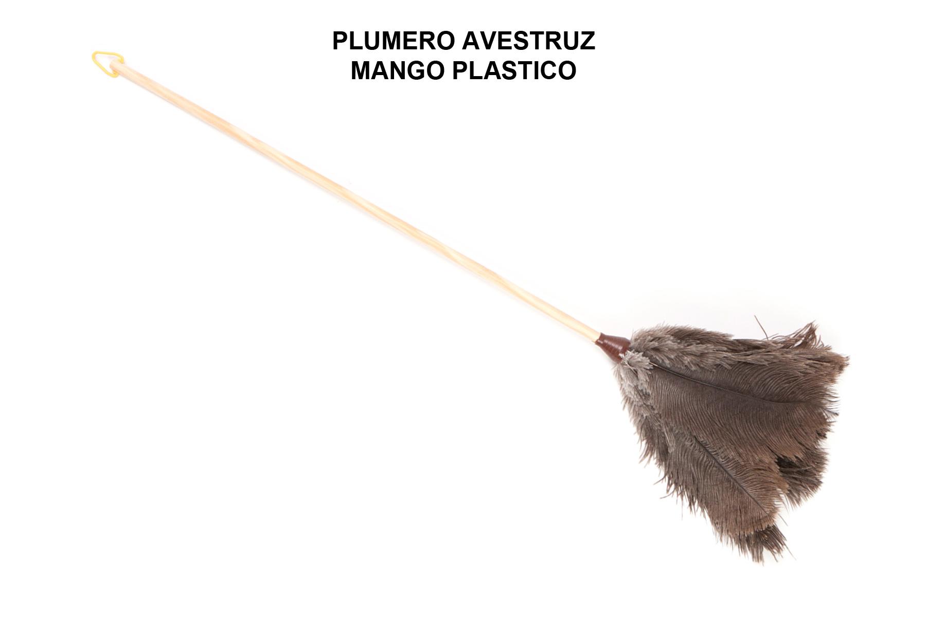 PLUMERO AVESTRUZ MANGO PLASTICO