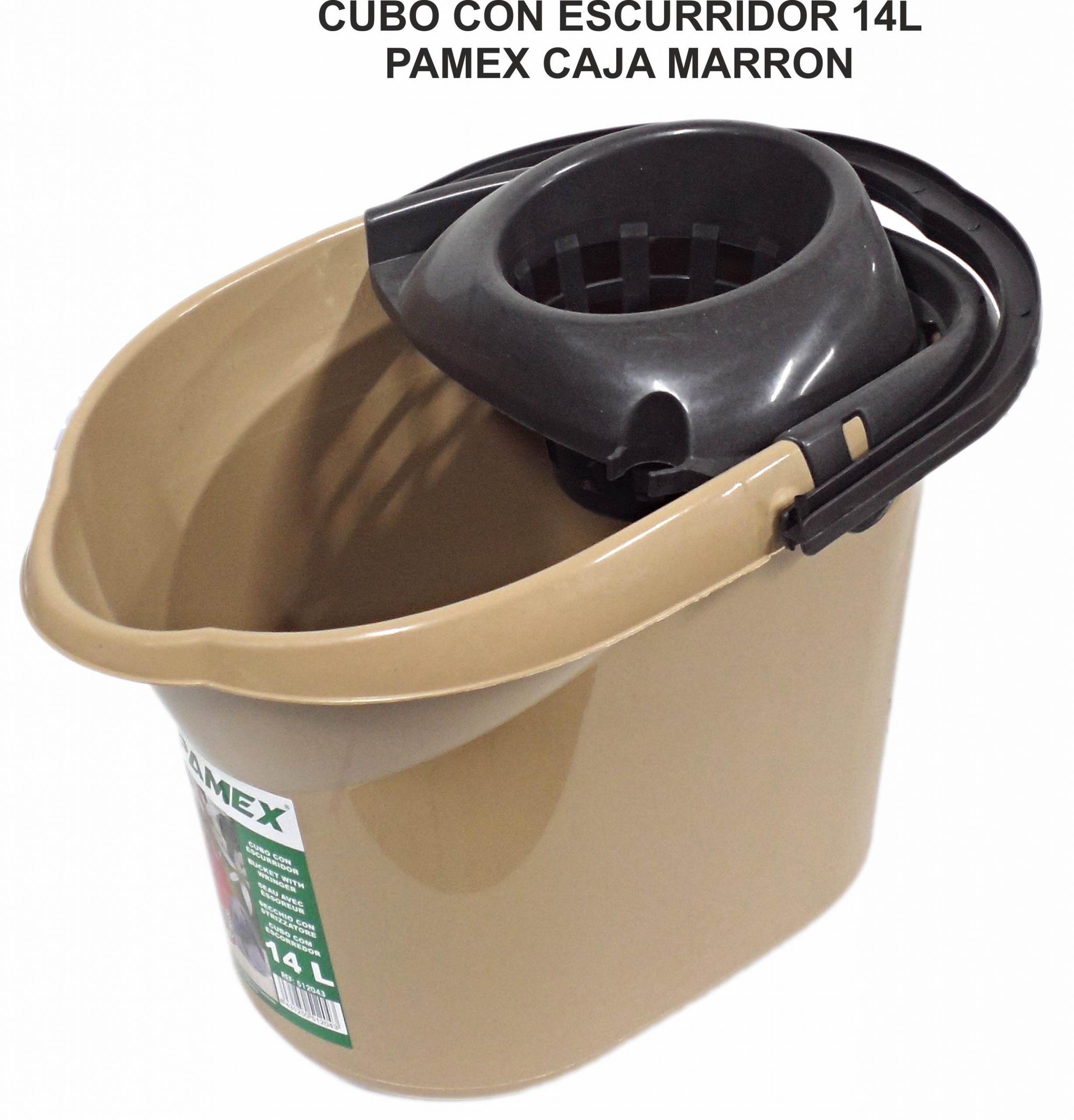CUBO CON ESCURRIDOR 14 L PAMEX CAJA MARRON