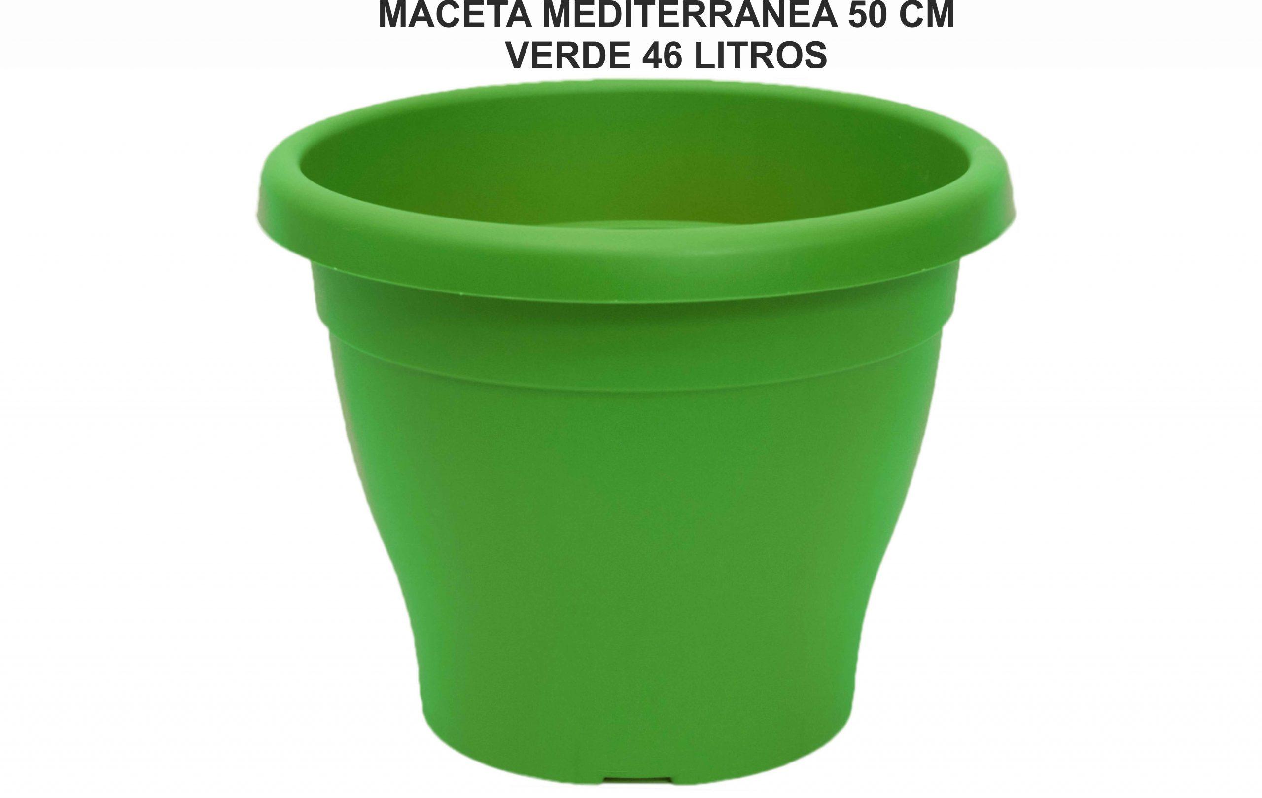 MACETA MEDITERRANEA 50 CM VERDE