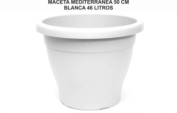 MACETA MEDITERRANEA 50 CM BLANCA