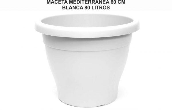 MACETA MEDITERRANEA 60 CM BLANCA