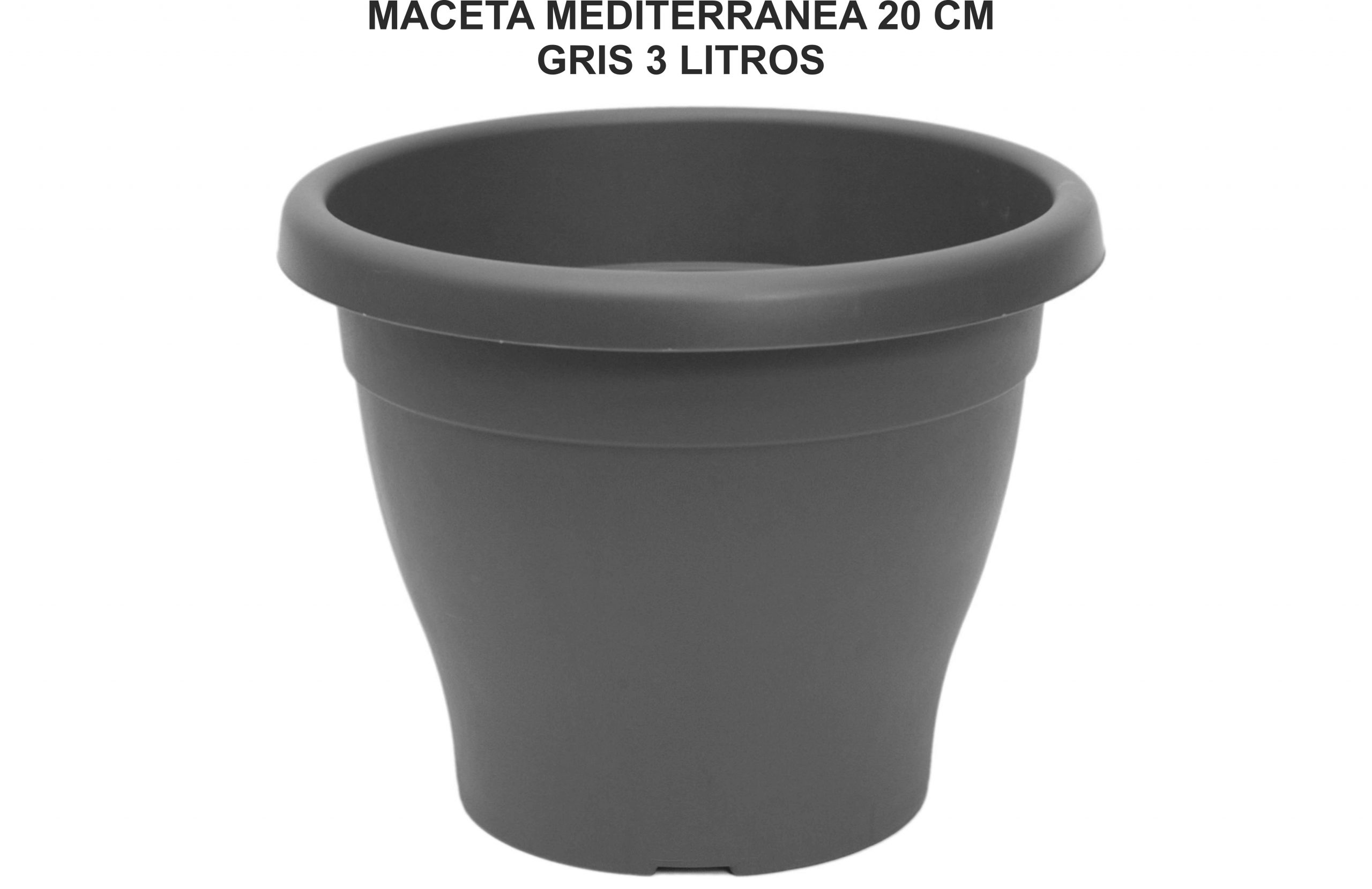 MACETA MEDITERRANEA 20 CM GRIS