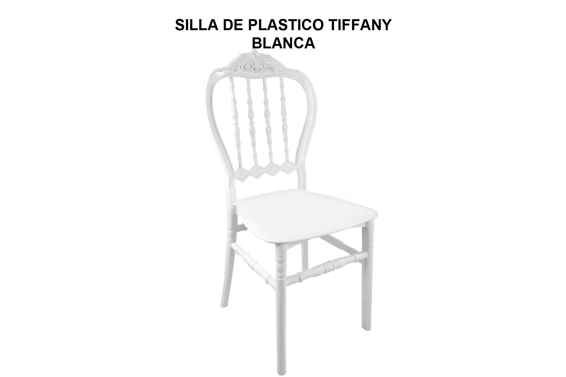 SILLA DE PLASTICO TIFFANY BLANCA