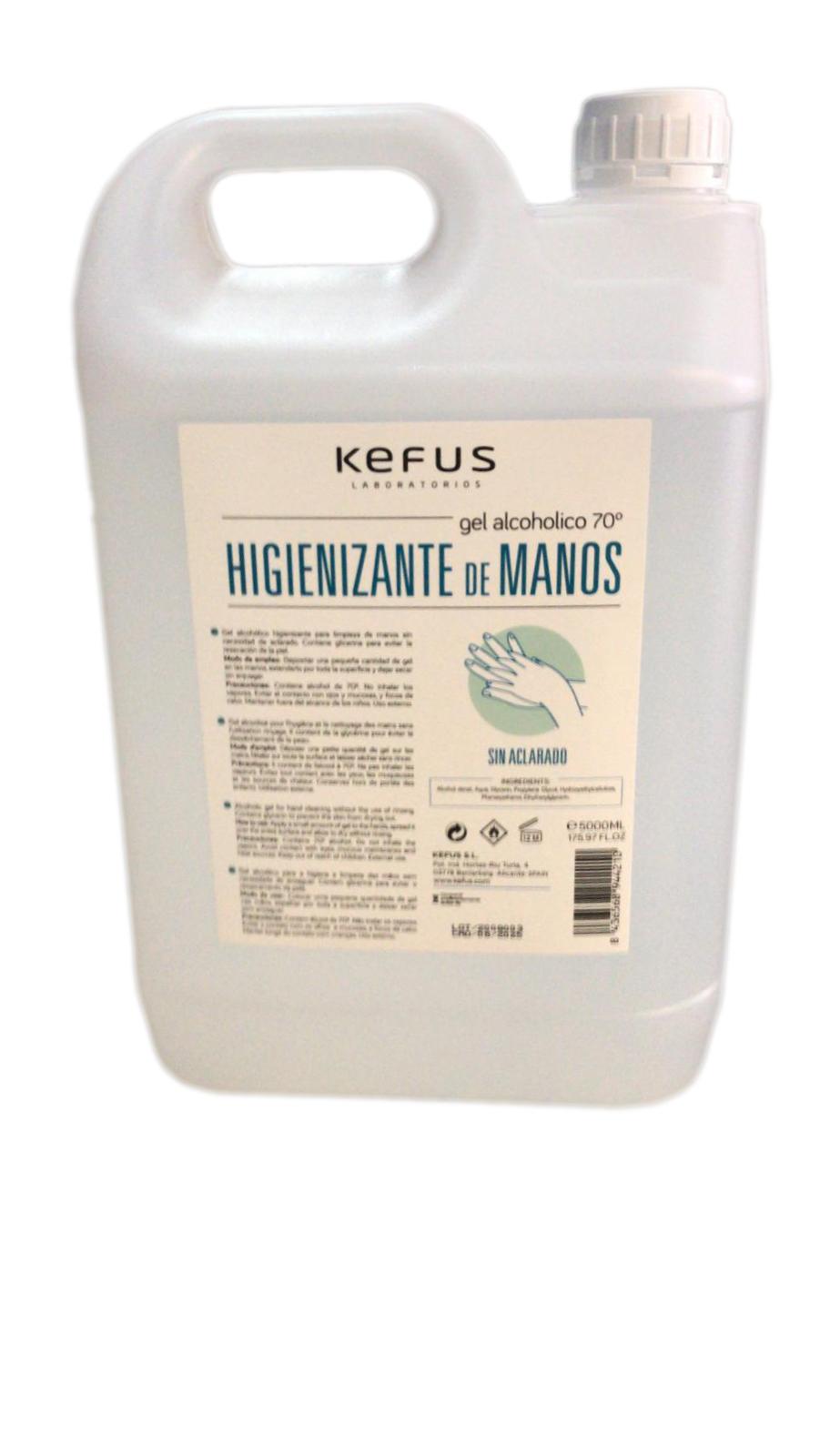 HIGIENIZANTE DE MANOS KEFUS 5L