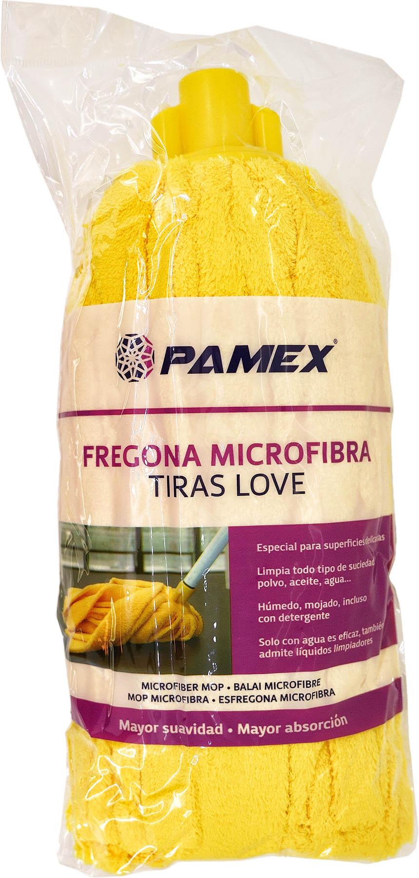 FREGONA MICROFIBRA TIRAS LOVE AMARILLA