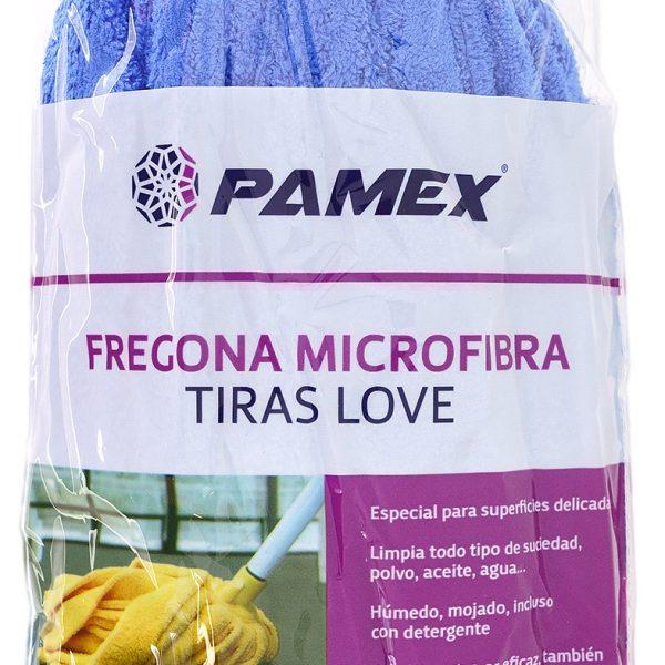 FREGONA MICROFIBRA TIRAS LOVE AZUL