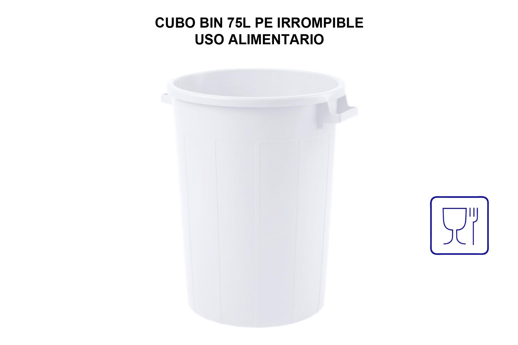 CUBO BIN 75L PE IRROMPIBLE USO ALIMENTARIO