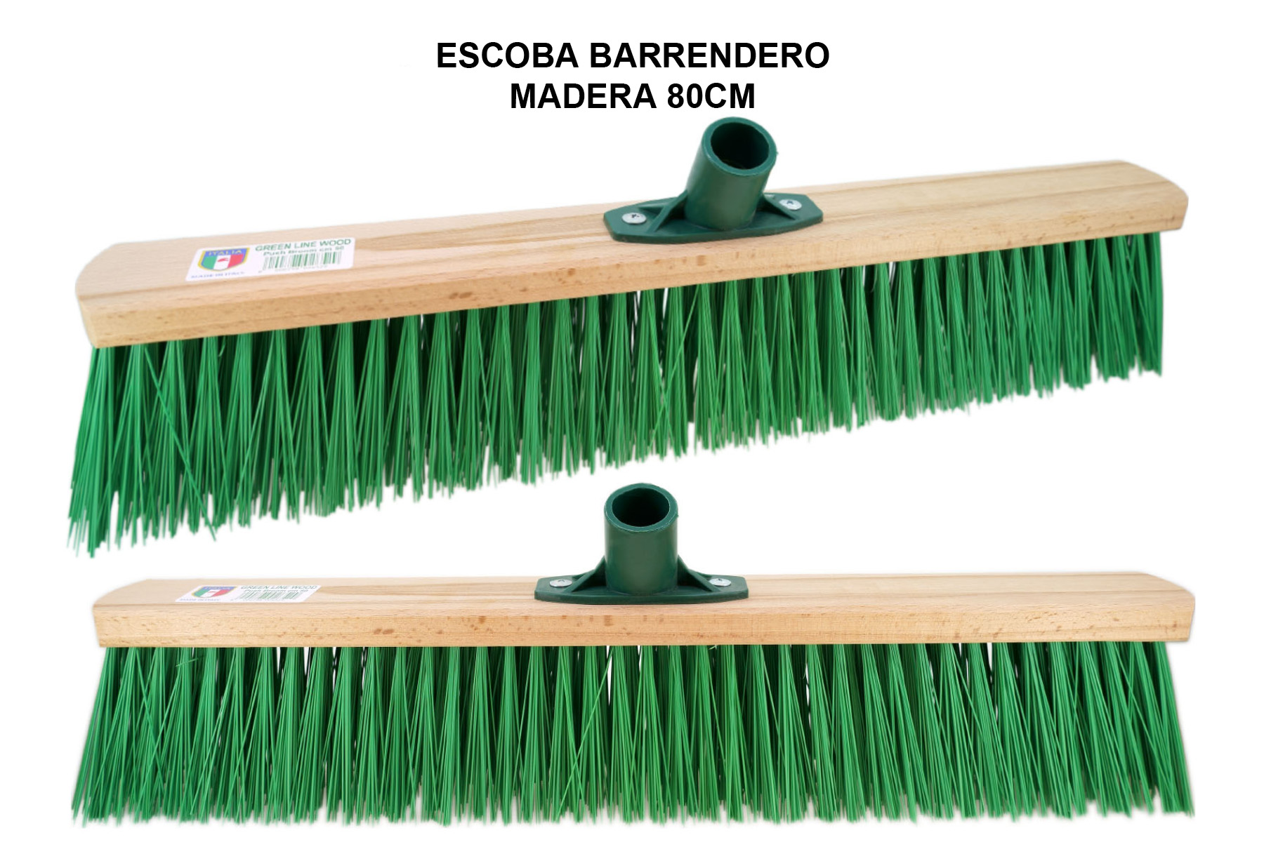 ESCOBA BARRENDERO MADERA 80 CM